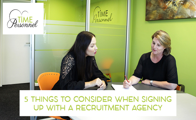 5 Things to consider when signing up a new Recruitment Agency