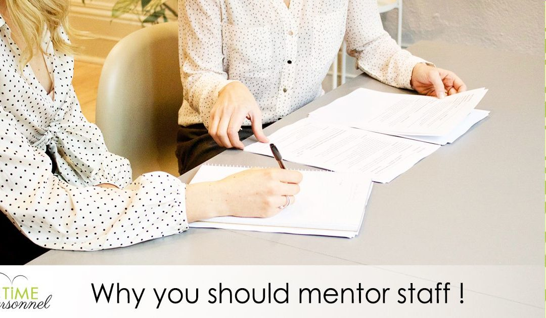 Why you should mentor your staff?